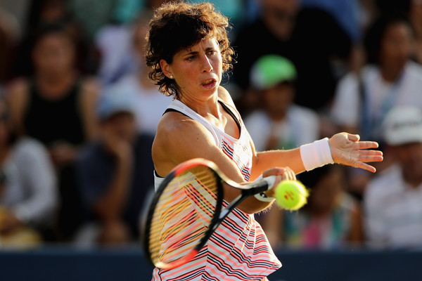 Carla Suarez Navarro had a good start but was immediately pegged back | Photo: Elsa/Getty Images North America