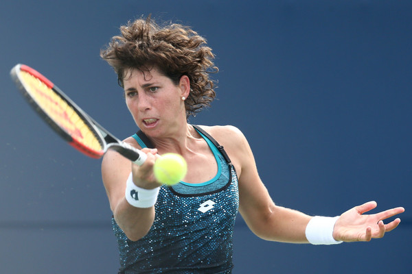 Carla Suarez Navarro was simply outplayed today | Photo: Maddie Meyer/Getty Images North America
