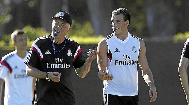 Ancelotti en su primera etapa junto a Bale.   Foto: Marca