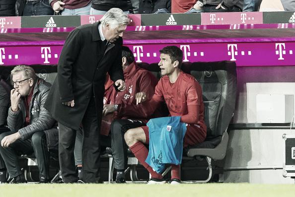 Müller é o pupilo de Ancelotti no Bayern de Munique (Foto: TF-Images/Getty Images)
