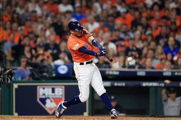 Correa got the scoring started in Game 1/Photo: Ronald Martinez/Getty Images