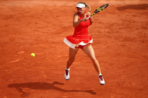 Caroline Wozniacki eventually gets the win | Photo: Clive Brunskill/Getty Images Europe