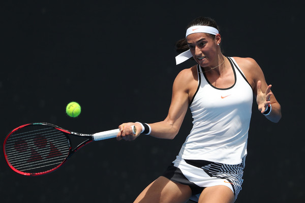 Caroline Garcia in action at her first tournament of the year, the Australian Open | Photo: Scott Barbour/Getty Images AsiaPac