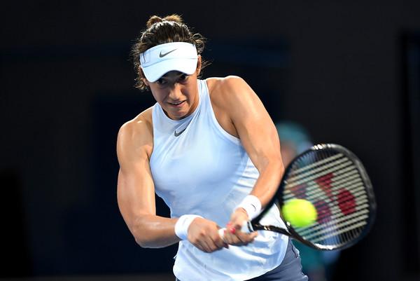 Caroline Garcia in action during her first-round match against Cornet | Photo: Bradley Kanaris/Getty Images AsiaPac