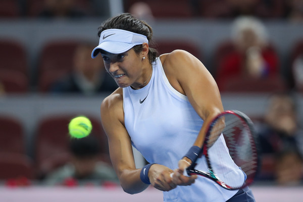 Caroline Garcia had a fast start to the match, jumping out to an early 2-0 lead | Photo: Lintao Zhang/Getty Images AsiaPac