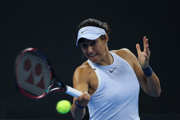 Caroline Garcia was much more reliable on her serves in the match | Photo: Lintao Zhang/Getty Images AsiaPac