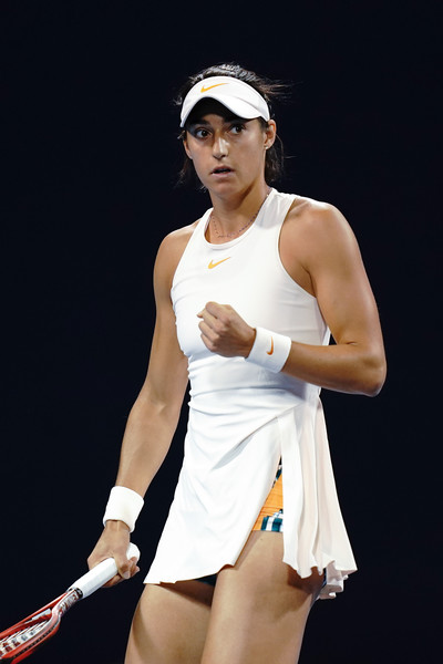 Caroline Garcia celebrates winning a point at the China Open | Photo: Lintao Zhang/Getty Images AsiaPac