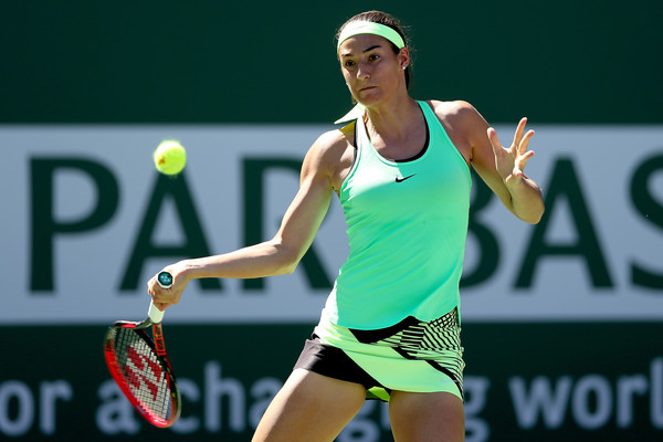 Caroline Garcia was impressive on the return in the early stages | Photo: Matthew Stockman/Getty Images North America