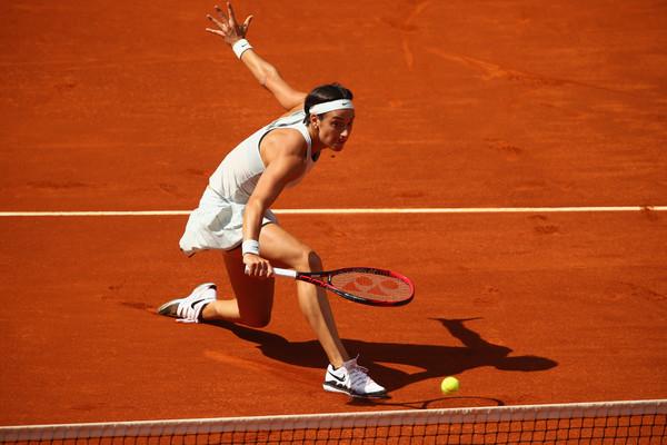 Caroline García en su paso por el torneo de Roma (zimbio.com)