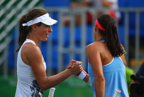 Garcia and Konta met at the 2016 Rio Olympics as well, with the Brit triumphing in straight sets | Photo: Clive Brunskill/Getty Images South America