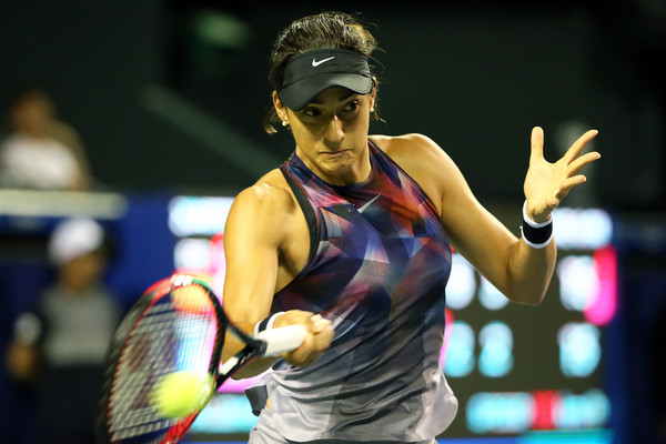 Caroline Garcia in action during the match | Photo: Koji Watanabe/Getty Images AsiaPac