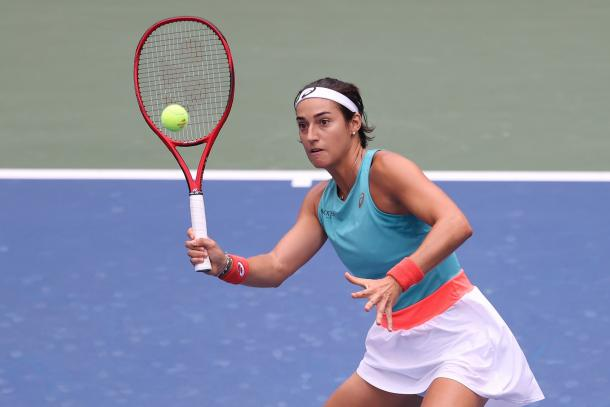 Garcia's net game could help her to victory/Photo: Al Bello/Getty Images