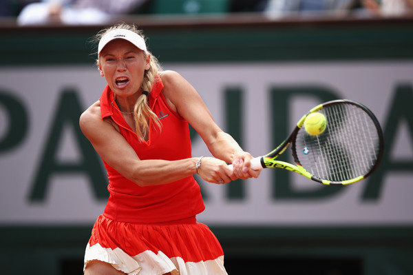Caroline Wozniacki in action at the French Open | Photo: Julian Finney/Getty Images Europe