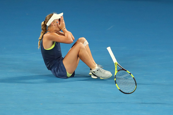 Caroline Wozniacki had to save match point en route to her triumph in Melbourne | Photo: Chris Hyde/Getty Images AsiaPac
