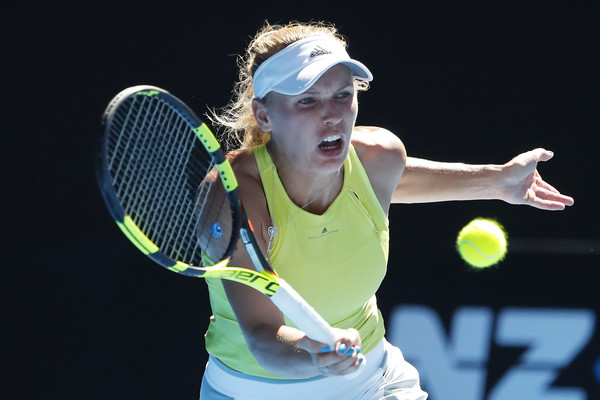 Caroline Wozniacki was unexpectedly in trouble under the scorching sun in Melbourne   Photo: Scott Barbour/Getty Images AsiaPac