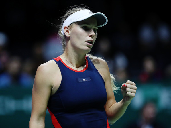 Caroline Wozniacki converted none of her 10 break points | Photo: Matthew Stockman/Getty Images AsiaPac