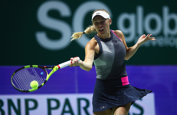 Wozniacki in action at the 2017 WTA Finals | Photo: Clive Brunskill/Getty Images AsiaPac