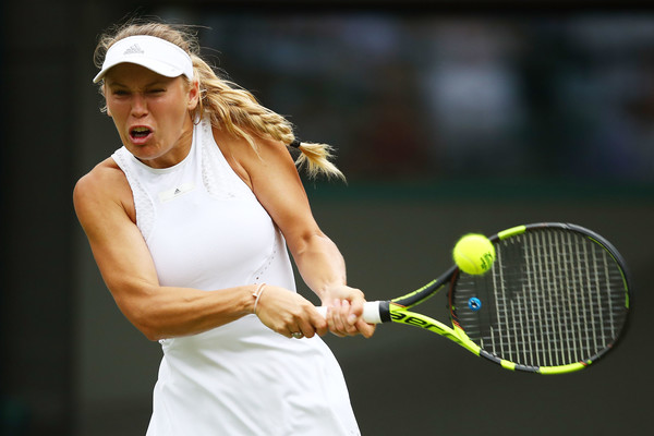 Caroline Wozniacki fought back in some style, claiming the second set 6-1 | Photo: Clive Brunskill/Getty Images Europe