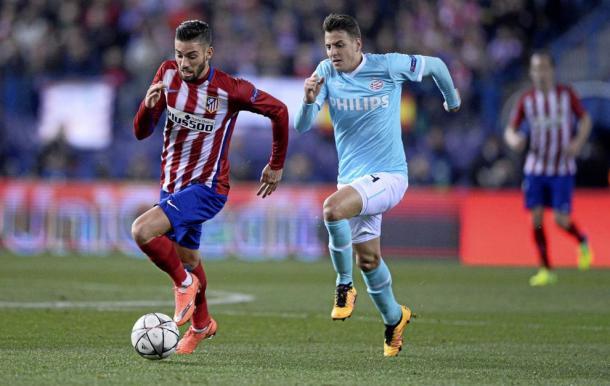 Ferreira Carrasco in Champions League contro il PSV, marca.com