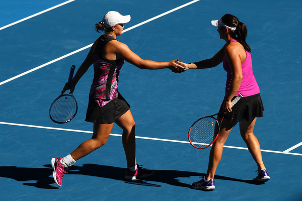 Barty and Dellacqua in action at the Australian Open | Photo: Cameron Spencer/Getty Images AsiaPac