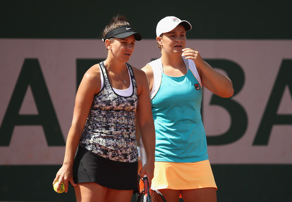 Barty and Dellacqua looks on at the French Open, where they were eventual runners-up | Photo: Julian Finney/Getty Images Europe