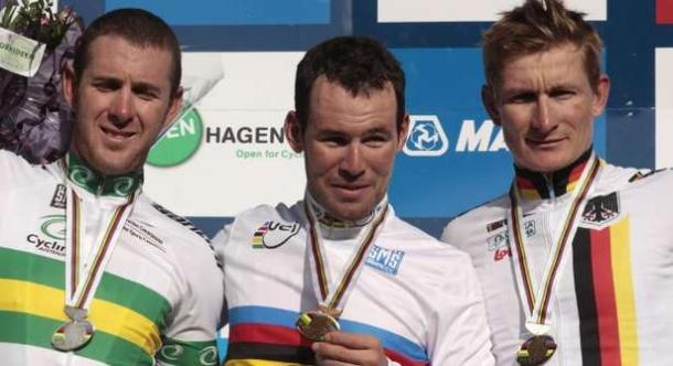 Mark Cavendish conquistó el oro mundialista en Copenhague | Foto: UCI