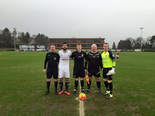 Jordi Amat captained the Swans on Sunday. | Photo: The New Saints FC