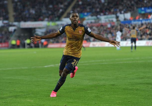 Campbell was in fine form at Swansea last season. | Source: Arsenal