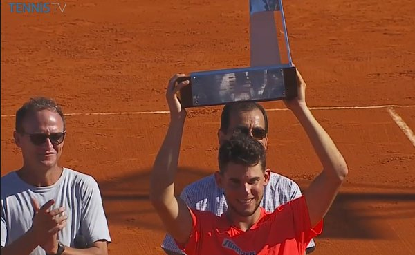 Dominic Thiem campeón del Argentina Open: Foto: Tennis Tv.