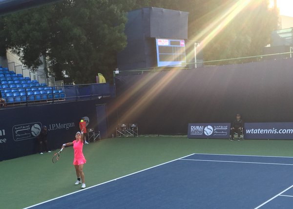 Tsurenko able to break in the second set but it was not enough   Photo courtesy of: DDFTennis twitter