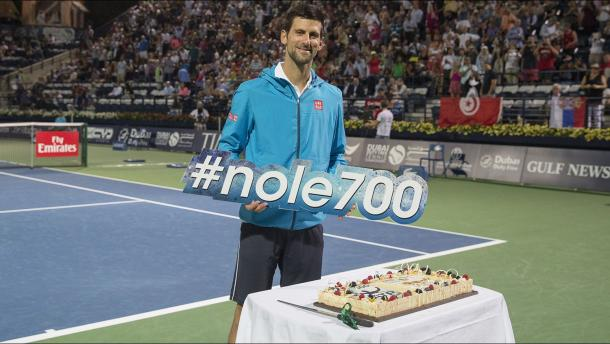 #nole700. Of course the celebration cake was gluten-free. Image credit: Getty Images