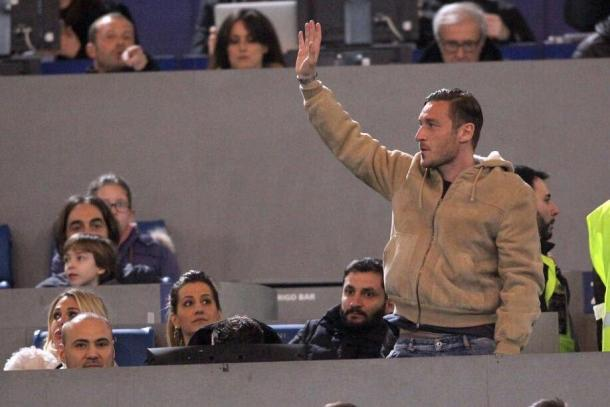 Totti, protagonista dalla tribuna nell'ultimo incrocio all'Olimpico. Fonte foto: tuttosport.it