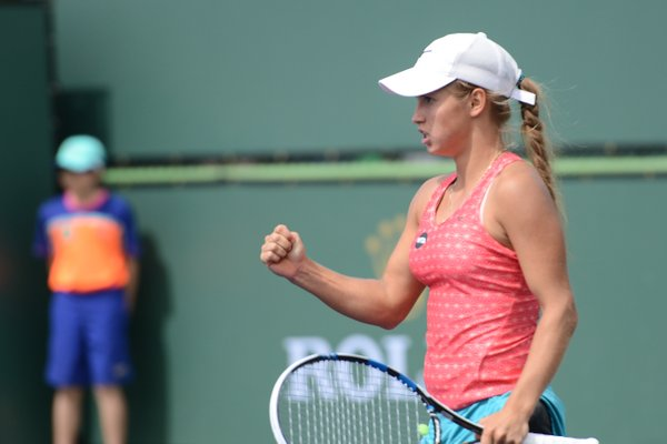 Putintseva holds at an important moment and seals victory | Photo courtesy of: Christopher Levy