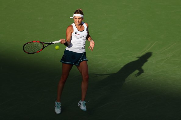 Timea Bacsinszky survived a fall and Genie Bouchard to reach Round 4. Image Credit: Getty