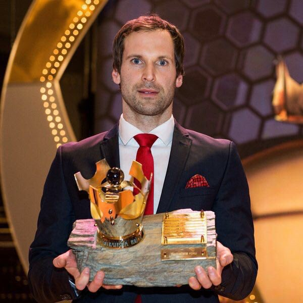 Čech posted this picture of himself with the award on social media after being voted the winner once again.