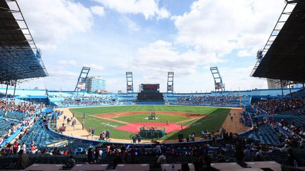 The Tampa Bay Rays defeated the Cuban National Team in Havana, Cuba on Tuesday, 4-1. It was the first time since 1999 that the Major League Baseball sent a team to Cuba for a baseball game. (@MLB)