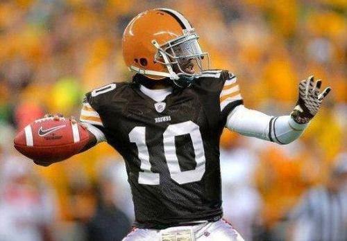 Depiction of Robert Griffin III in a Browns uniform via @SportsPowerTalk on Twitter