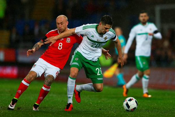 Cathcart opened the scoring on the hour, but saw it cancelled out late on. (Photo: Belfast Telegraph)