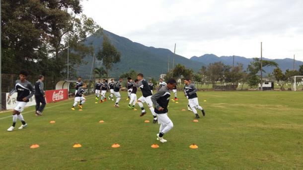 Ceará fez treinamentos no CT do Figueirense, em Palhoça na véspera da partida (Foto: Site/Ceará SC)