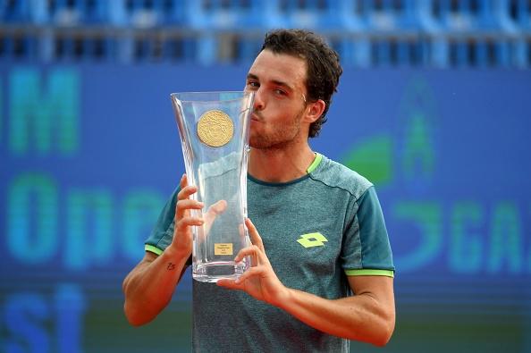 The loser is lucky: Cecchinato venceu o ATP 250 de Budapeste em abril (Foto: ATTILA KISBENEDEK/AFP/Getty Images)