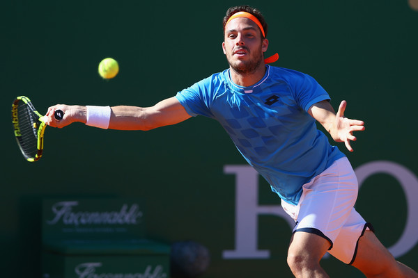 Marco Cecchinato reaches for a forehand. Photo: Michael Steele/Getty Images