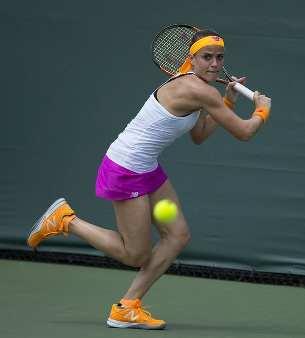 Gibbs was able to fend off the Frenchwoman to hang on to her lead | Photo courtesy of: Neal Trousdale/Open Tenis