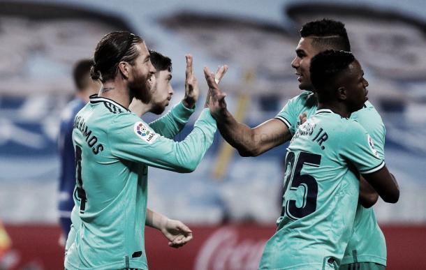 Celebración de gol del Real Madrid ante la Real Sociedad | Fuente: Real Madrid