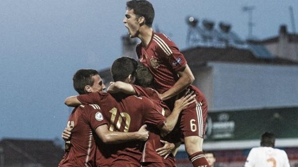 Celebración de la Selección española Sub-19 | Foto: UEFA.com