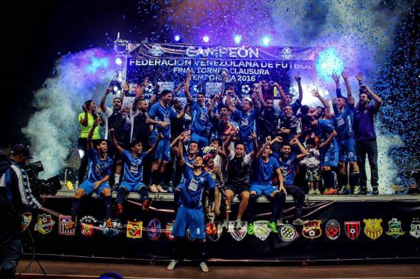 Zulia celebrando su título. FOTO: Zulia FC