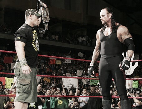 Cena is expected to face Taker at WrestleMania (image: Amino Apps)