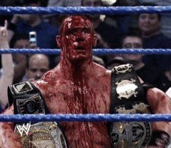 Cena is no stranger to blood. Photo- www.wrestlestars.com