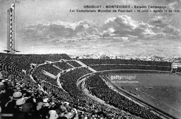El Estadio Centenario de Montevconstruido expresamente para el Mundial de 1930 | Foto: Getty Images