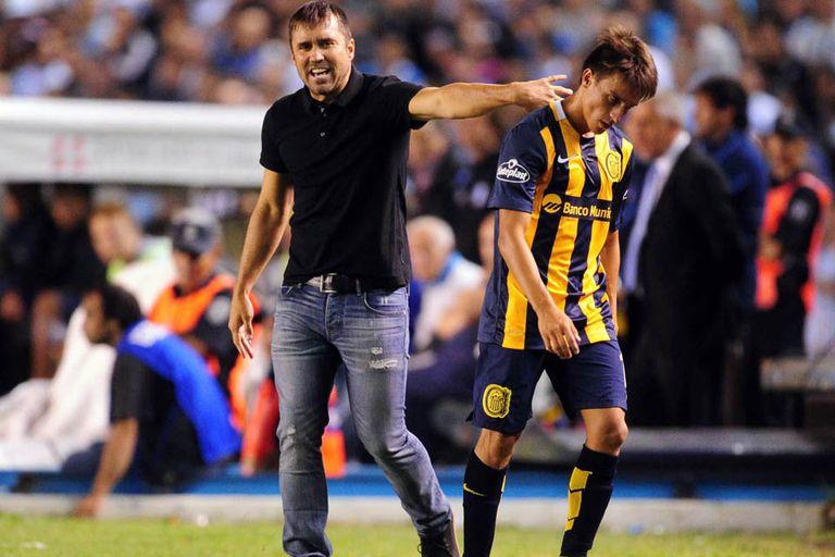 Coudet con Cervi durante su etapa en Rosario Central   Imagen: Télamm