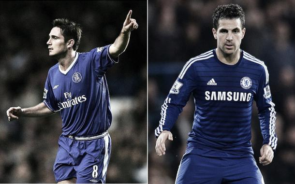 Can Fabregas catch the Chelsea legend's record? Photo- www.telegraph.co.uk